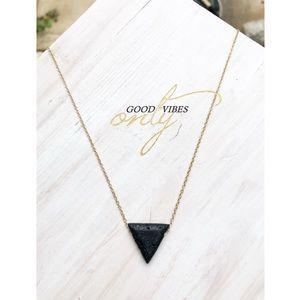 Jewelry - Natural Black Lava Diffuser Necklace-Essential-oil